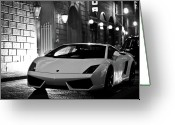 Film Noir Greeting Cards - Lambo Noir Greeting Card by Patrick English
