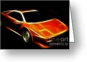 Transportation Digital Art Greeting Cards - Lamborghini Diablo Greeting Card by Wingsdomain Art and Photography