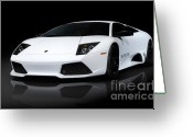 Auto Show Greeting Cards - Lamborghini Murcielago LP640 Coupe Greeting Card by Oleksiy Maksymenko