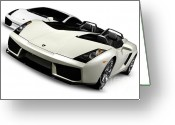 Silo Greeting Cards - Lamborghini Super Cars Greeting Card by Oleksiy Maksymenko