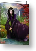 Contemplation Digital Art Greeting Cards - Lament Greeting Card by Karen Koski