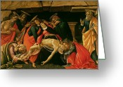 Pieta Painting Greeting Cards - Lamentation of Christ Greeting Card by Sandro Botticelli