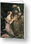 John William Waterhouse Greeting Cards - Lamia Greeting Card by John William Waterhouse