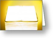 Lamp Light Greeting Cards - Lamp in Yellow Greeting Card by Scott Norris
