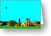 Pa Barns Greeting Cards - Lancaster County Balloons Greeting Card by See Me Beautiful Photography