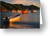 Taganga Greeting Cards - Lanchas Taganga Greeting Card by Skip Hunt
