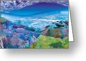 Northern Irish Art Greeting Cards - Land angel land Greeting Card by Eddy Crowley