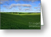 Barn Images Greeting Cards - Land of the free - Home of the Brave Greeting Card by Reflective Moments  Photography and Digital Art Images