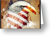 We The People Greeting Cards - Land Of The Free Greeting Card by Robert  Adelman