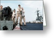 Operation Desert Storm Greeting Cards - Landing Signal Officers Guide An F-14 Greeting Card by Stocktrek Images
