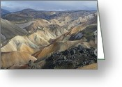 Rudi Prott Greeting Cards - Landmannalaugar Panorama 1 Greeting Card by Rudi Prott