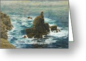 Great Painting Greeting Cards - Lands End Greeting Card by John Brett