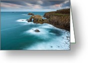 Sennen Greeting Cards - Lands End Greeting Card by Sebastian Wasek