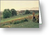 1796 Greeting Cards - Landscape at Mornex Greeting Card by Jean Baptiste Corot