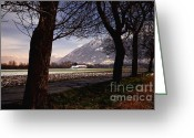 Long Street Greeting Cards - Landscape at night Greeting Card by Mats Silvan