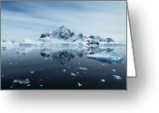 Antarctica Greeting Cards - Landscape Greeting Card by Gordon Lo