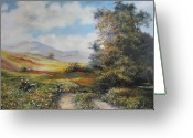 Road Greeting Cards - Landscape in Dilijan Greeting Card by Tigran Ghulyan