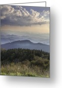 Cowee Greeting Cards - Landscape Layers Greeting Card by Rob Travis