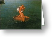 Styx Greeting Cards - Landscape With Charon Crossing The Styx Greeting Card by Photo Researchers