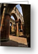 Medieval Architecture Greeting Cards - Lanercost Priory Greeting Card by Louise Heusinkveld