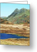 Hare Greeting Cards - Langdale Pikes Greeting Card by John D Hare