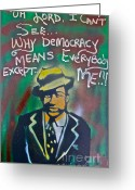 Sit-ins Greeting Cards - Langston Hughes Greeting Card by Tony B Conscious