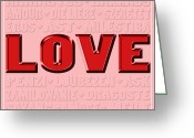 Amor Photo Greeting Cards - Language of Love 4 Greeting Card by Andrew Fare