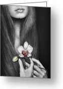 Edgy Greeting Cards - Language of the Heart Greeting Card by Pat Erickson