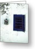 Old Wall Greeting Cards - Lantern And Window Greeting Card by Joana Kruse