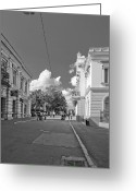 City Centre Greeting Cards - Lapusneanu street Greeting Card by Gabriela Insuratelu