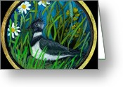 Lapwing Greeting Cards - Lapwing Greeting Card by Anna Folkartanna Maciejewska-Dyba
