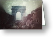 Iphonesia Greeting Cards - lArc de Triomphe - Paris Greeting Card by Marianna Mills