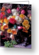 Bouquets Greeting Cards - Large bouquet of flowers Greeting Card by Garry Gay