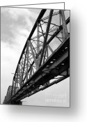 Large Steel Cross Greeting Cards - Large Old Railway Bridge Greeting Card by Yali Shi