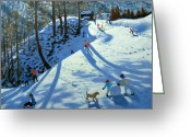 Skiing Greeting Cards - Large Snowball Zermatt Greeting Card by Andrew Macara