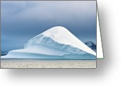 Antarctica Greeting Cards - Large Wedge Shaped Iceberg Greeting Card by Duane Miller