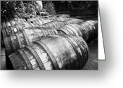 Cask Greeting Cards - Large Whisky Barrels At The Famous Grouse Glenturret Distillery Scotland Uk Greeting Card by Joe Fox