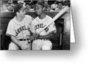 Larry Doby Greeting Cards - Larry Doby (1923-2003) Greeting Card by Granger
