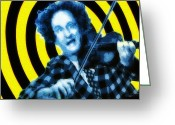 Violin Digital Art Greeting Cards - Larry Fine -  South Street Greeting Card by Bill Cannon