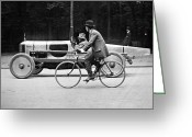 Street Scene Greeting Cards - Lartigue: Automobile, 1912 Greeting Card by Granger
