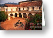 Bougainvillea Greeting Cards - Las Capuchinas Convent Ruins Greeting Card by Thomas R Fletcher