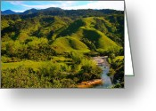 Guatape Greeting Cards - Las Tangas Greeting Card by Skip Hunt