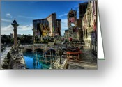 Treasure Island Greeting Cards - Las Vegas 028 Greeting Card by Lance Vaughn