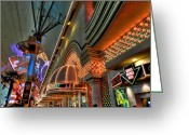 Fremont Street Greeting Cards - Las Vegas 058 Greeting Card by Lance Vaughn