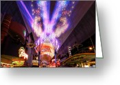 Fremont Street Greeting Cards - Las Vegas 062 Greeting Card by Lance Vaughn