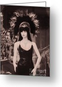 Headgear Greeting Cards - Las Vegas Mannequin  Greeting Card by Janeen Wassink Searles