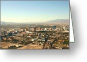 Nv Greeting Cards - Las Vegas Skyline Greeting Card by David Gardener