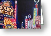 Fremont Street Greeting Cards - Las Vegas Strip Greeting Card by Mitchell McClenney