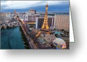 Las Vegas Greeting Cards - Las Vegas Strip Greeting Card by Thomas Hawk