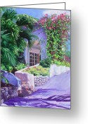 Purples Greeting Cards - LaSamana Greeting Card by Laura Lee Zanghetti